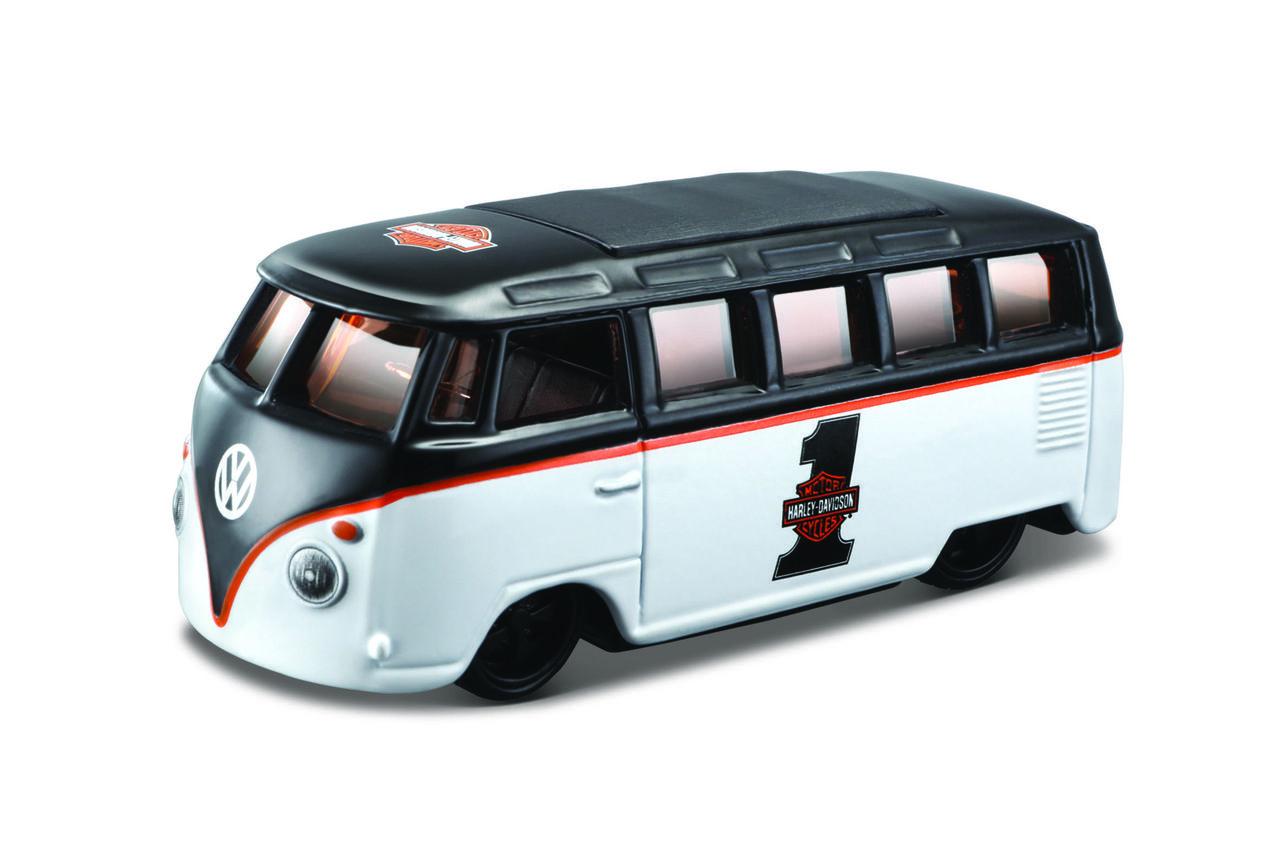 Miniatura Volkswagen Van Samba: Harley Davidson (Escala 1/64) - Maisco