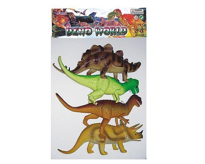 Miniaturas Dinossauros: Dino World - (4 Pçs)
