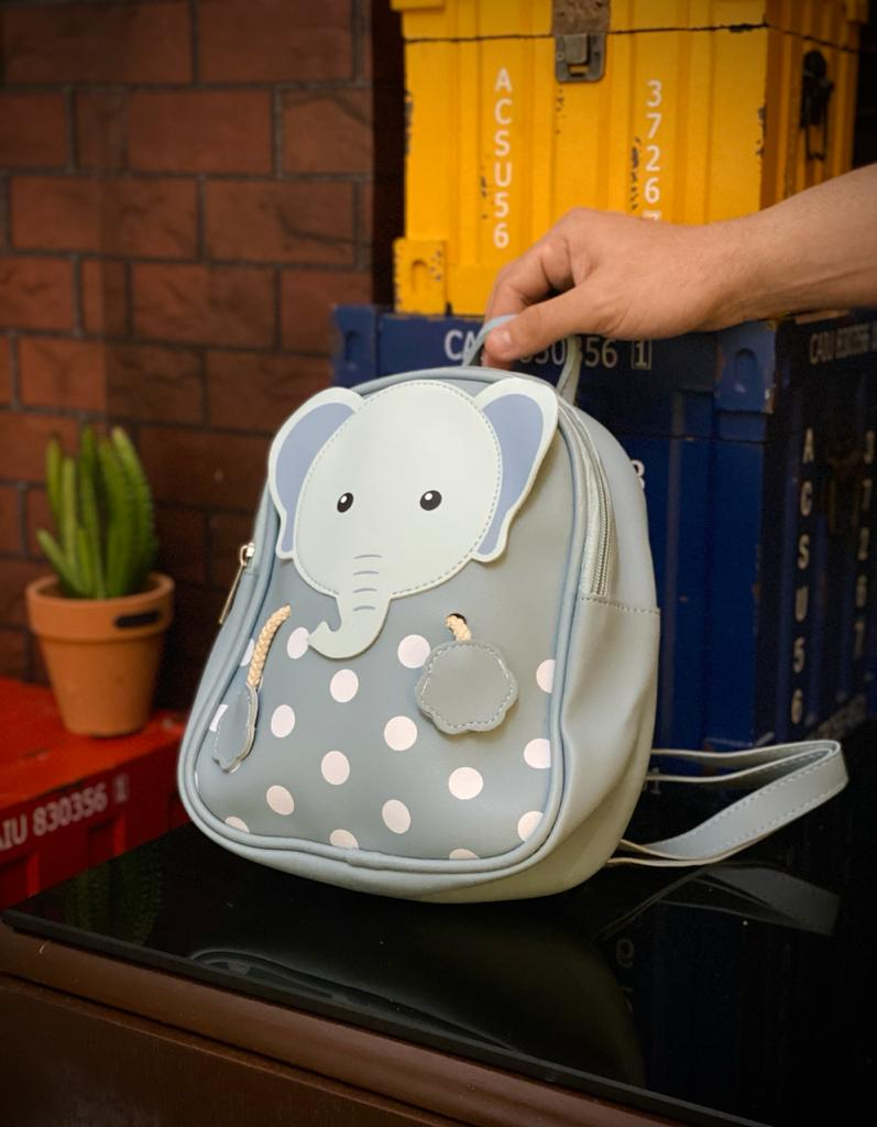 Mochila / Bolsa Infantil Elefante: Azul