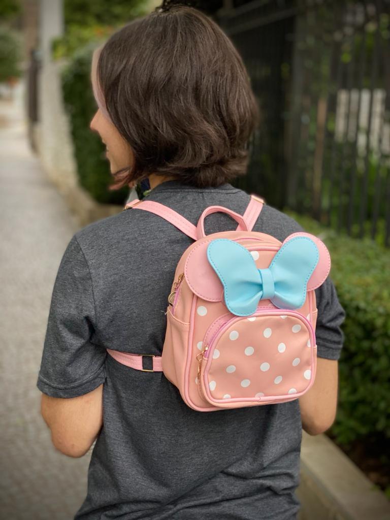 Mochila / Bolsa Minnie (Azul e Rosa): Disney