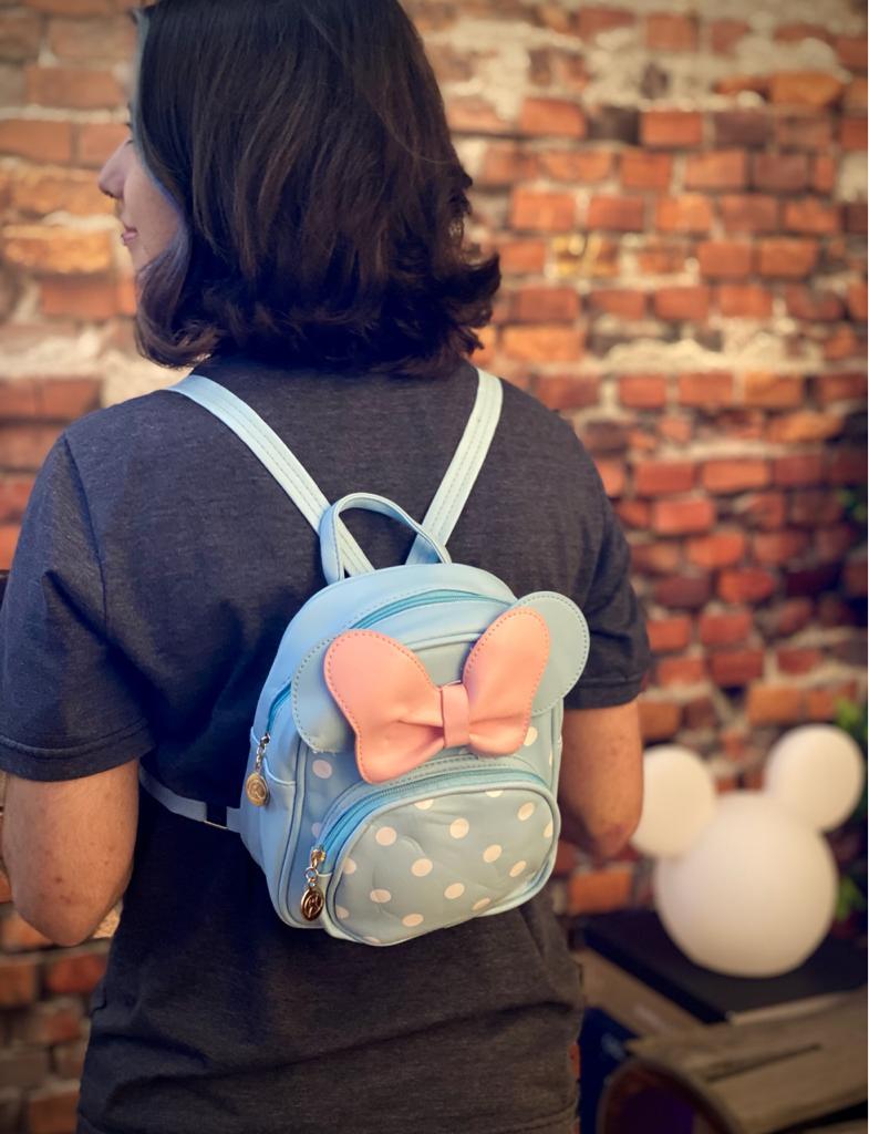Mochila / Bolsa Minnie Rosa e Azul: Disney