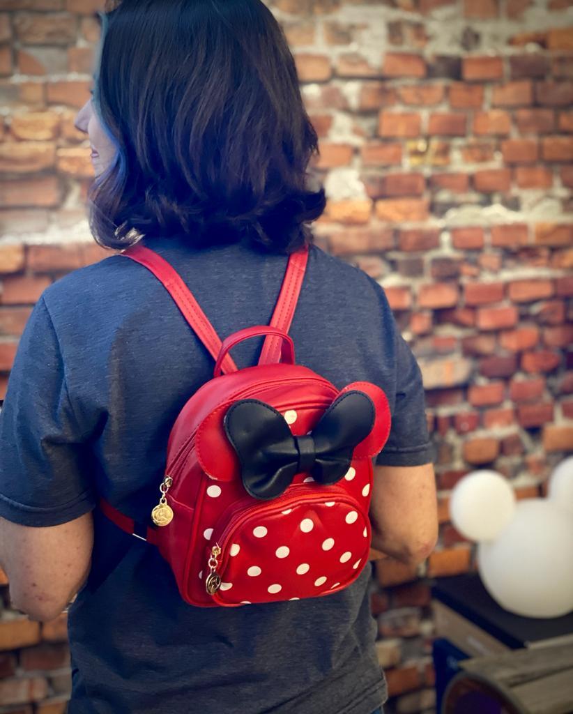 Mochila / Bolsa Minnie Vermelho e Preto: Disney