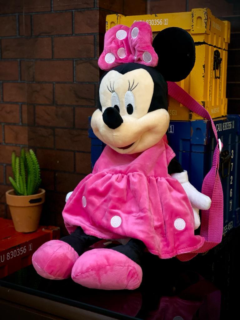 Mochila Bolsa Pelúcia Minnie Mouse (Disney)
