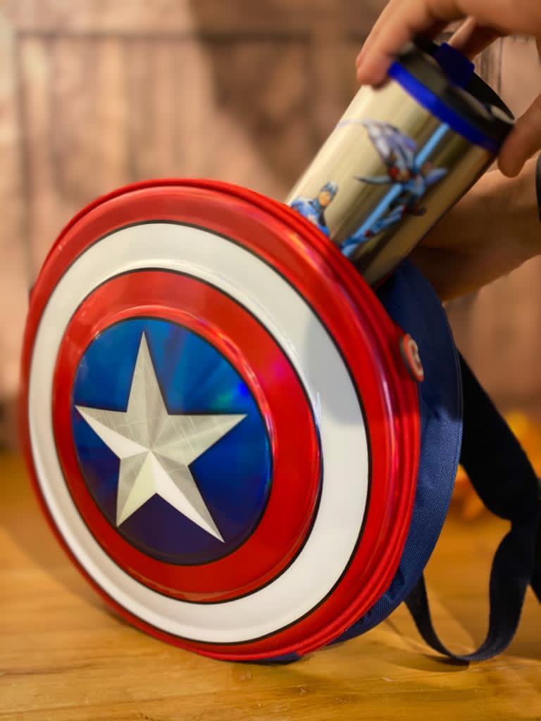 Mochila Escudo: Capitão América (Captain America) - Marvel Comics