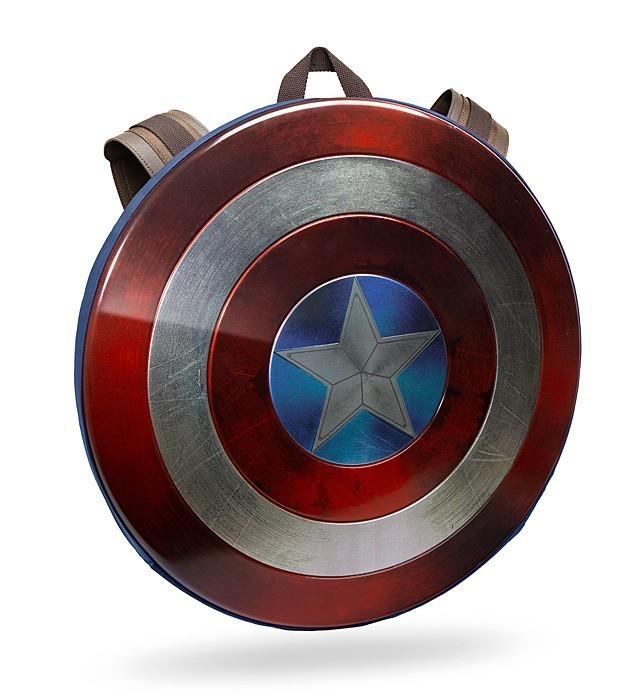 Mochila Escudo Capitão América Dano de Batalha (Damaged): Guerra Civil