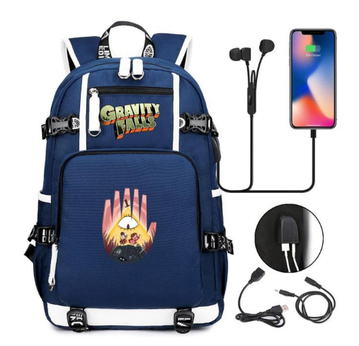 Mochila Gravity Falls: Um Verão de Mistérios (Azul) Modelo 1 Disney - MKP