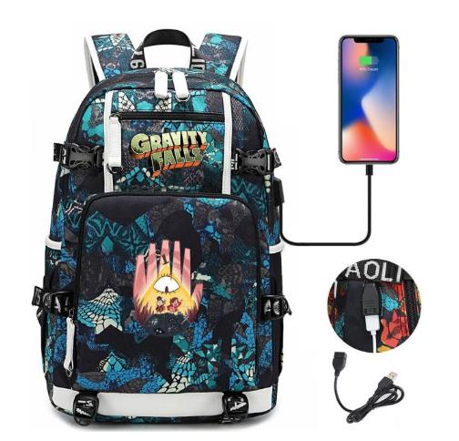 Mochila Gravity Falls: Um Verão de Mistérios (Verde e Azul) Disney - MKP