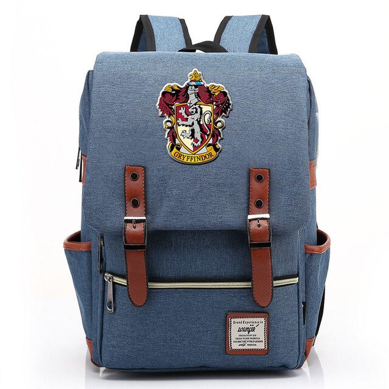 Mochila Hogwarts Casa Grifinória: Harry Potter (Azul)