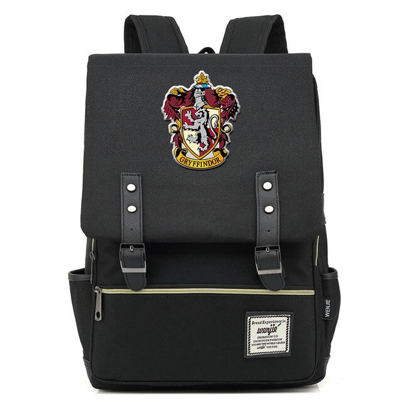 Mochila Hogwarts Casa Grifinória: Harry Potter (Preto)