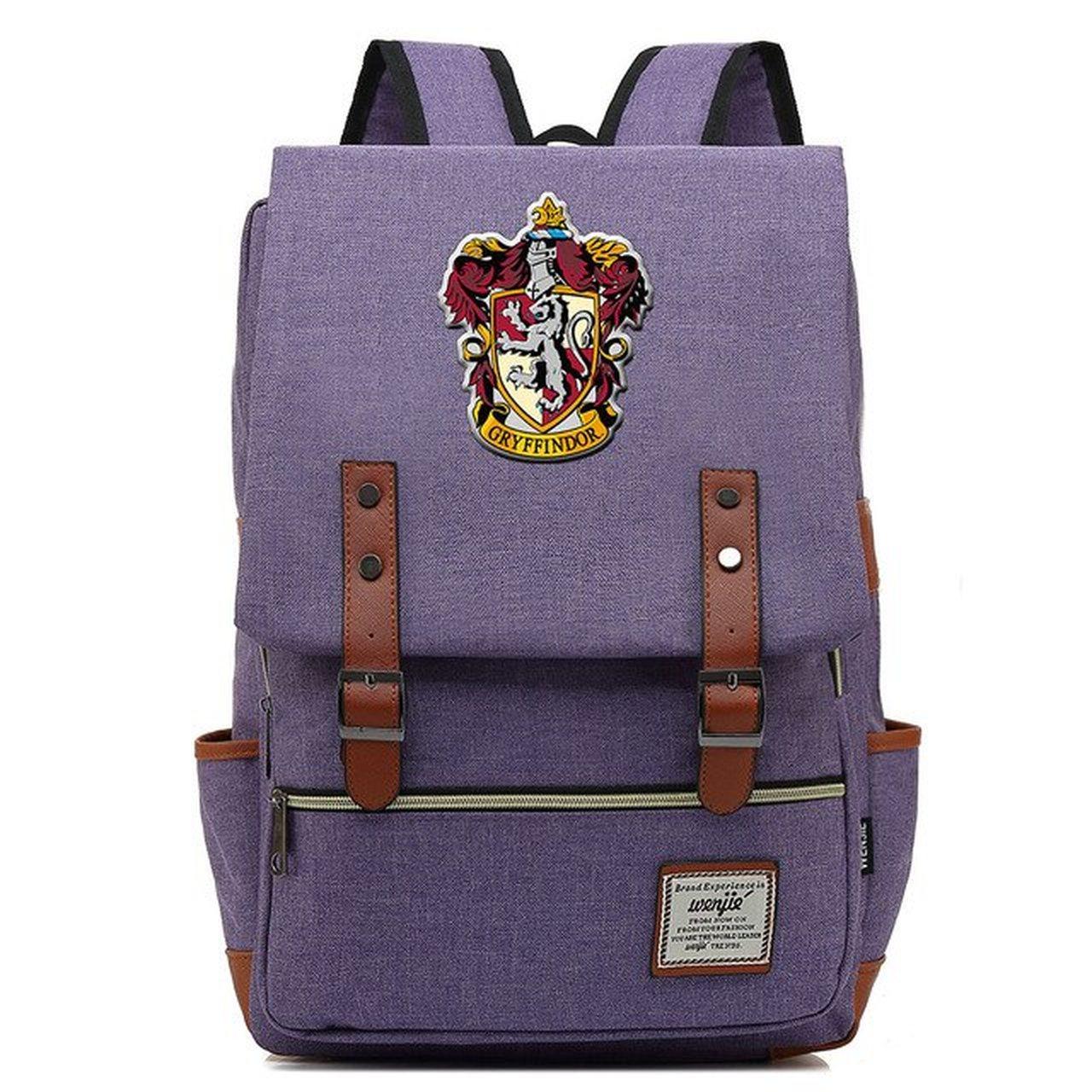Mochila Hogwarts Casa Grifinória: Harry Potter (Roxo) - MKP