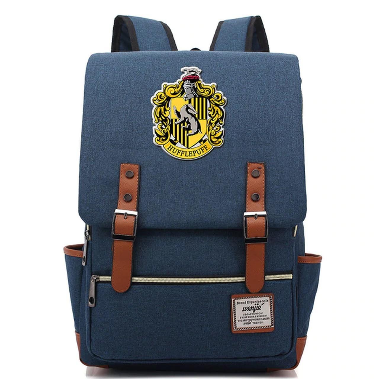 Mochila Hogwarts Casa Lufa-Lufa: Harry Potter (azul) - EV