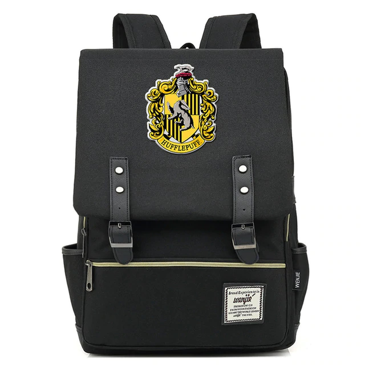 Mochila Hogwarts Casa Lufa-Lufa: Harry Potter (Preto)