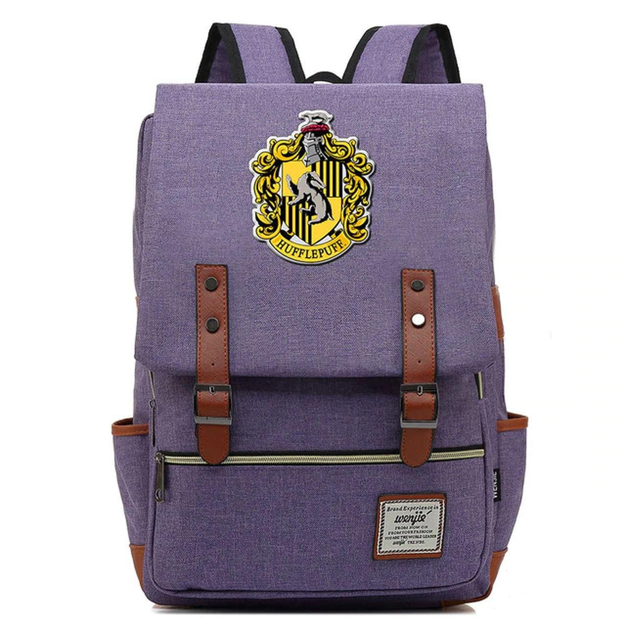 Mochila Hogwarts Casa  Lufa-Lufa: Harry Potter (Roxo)