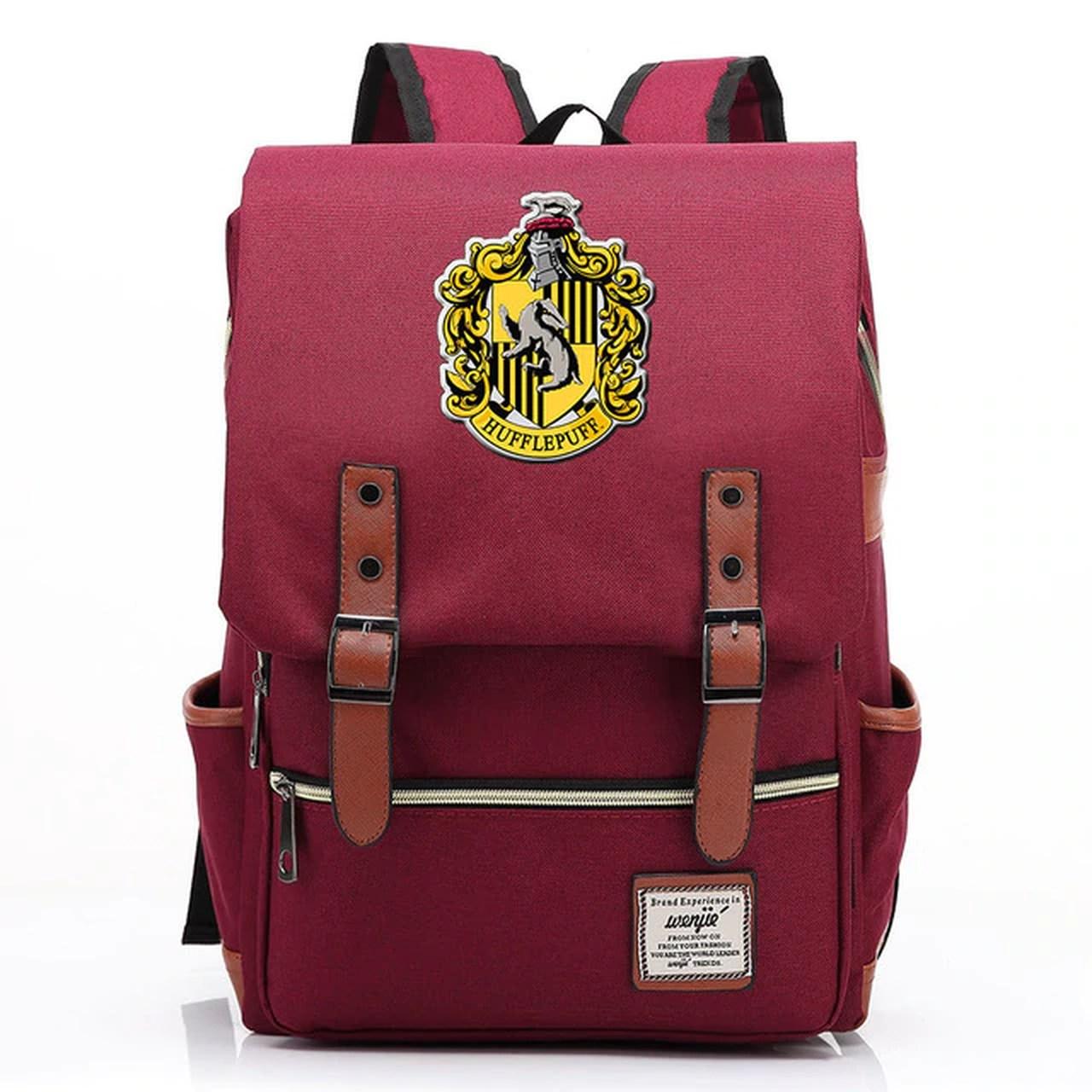 Mochila Hogwarts Casa Lufa-Lufa: Harry Potter (Vermelho)