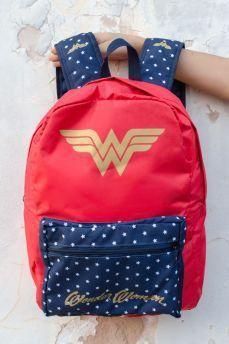Mochila Mulher Maravilha (Wonder Woman) Clássica: DC Comics