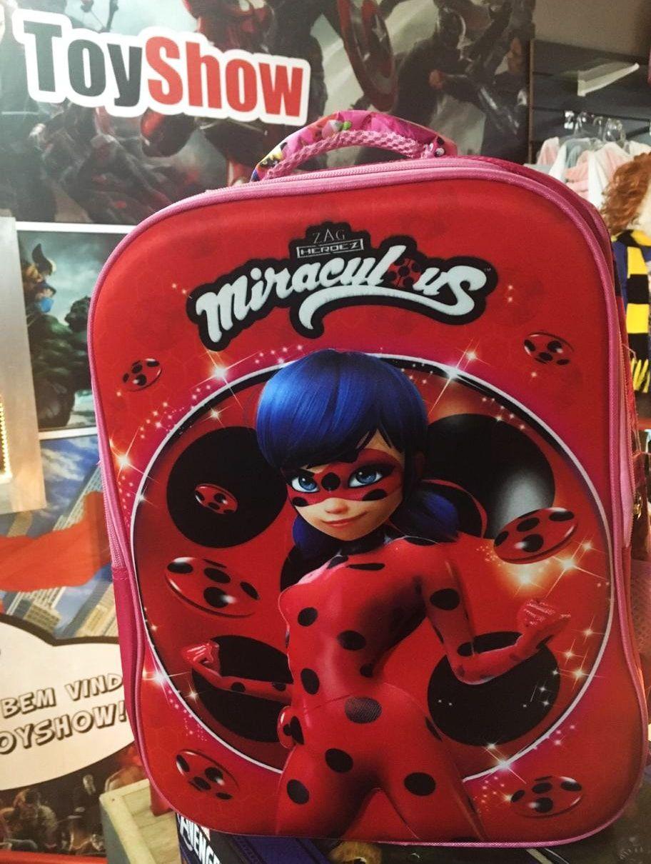 Mochila Ladybug: Miraculous - As Aventuras de Ladybug