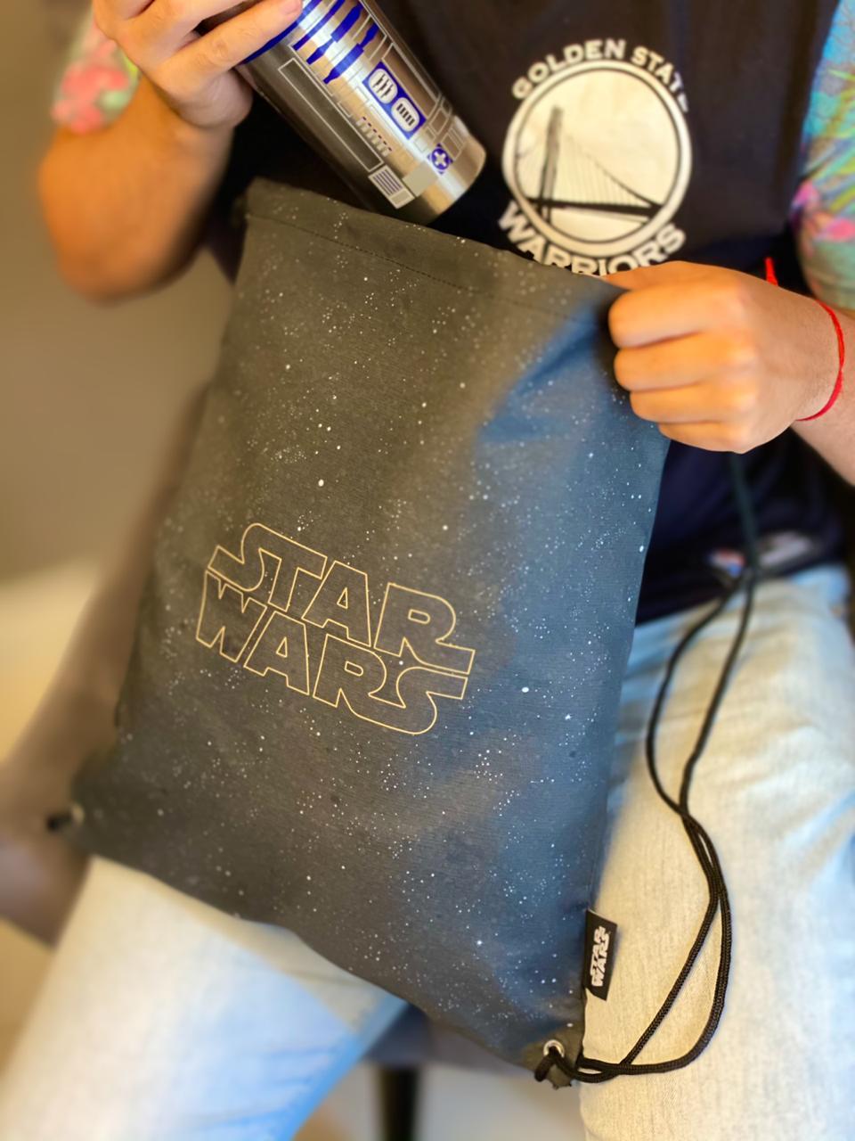 Mochila Sacola: Logo Star Wars- Zona Criativa