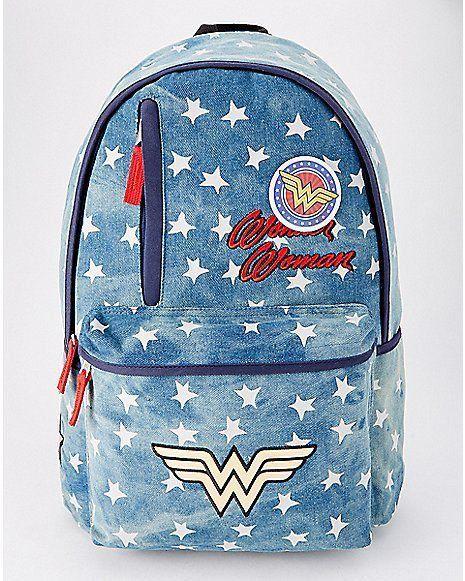 Mochila Wonder Woman (Mulher Maravilha) Azul com Estrelas