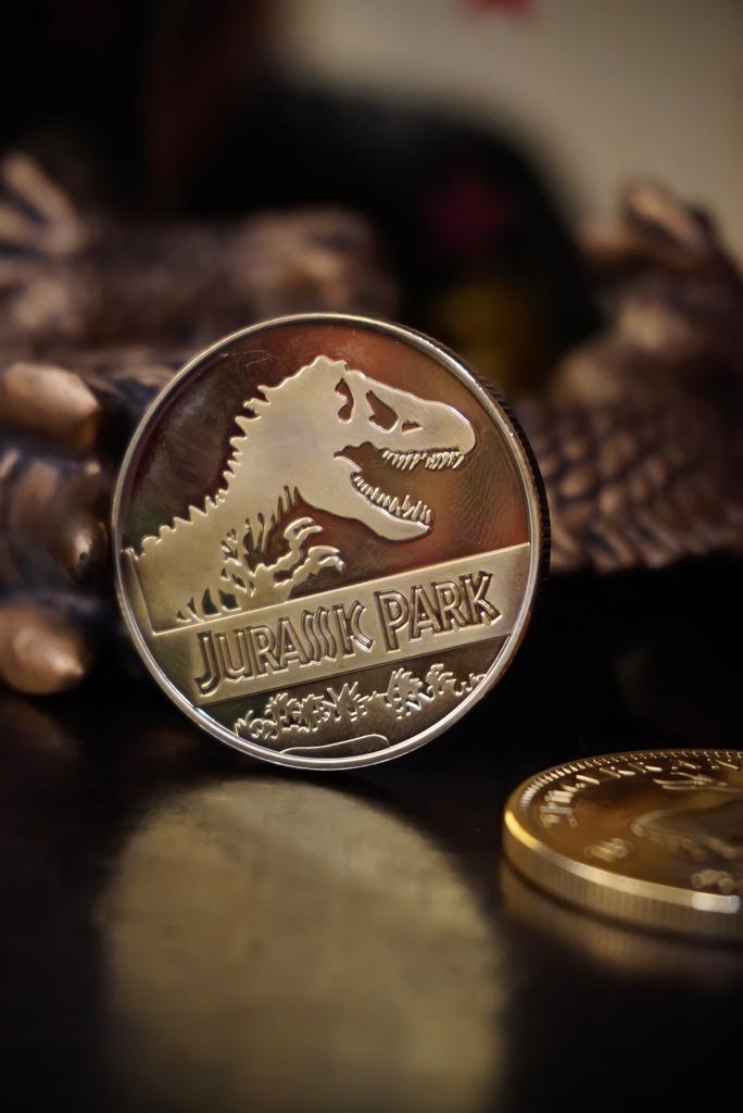 Moeda Comemorativa Jurassic Park