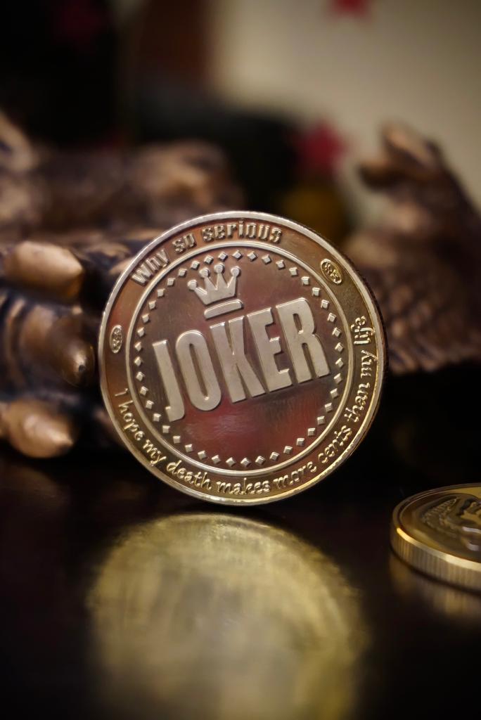 Moeda Decorativa Comemorativa O Coringa The Joker