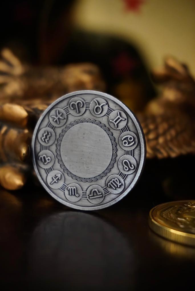 Moeda Decorativa Comemorativa Signos Do Zodíaco