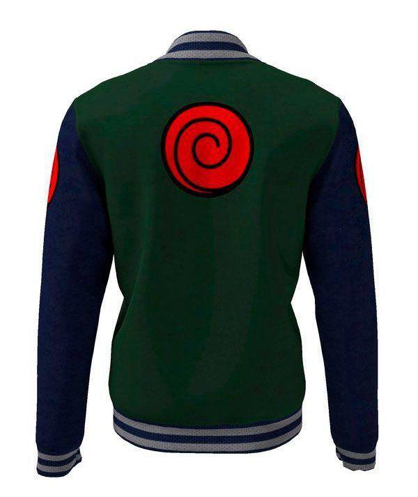 Moletom Colegial Colete Jounin: Naruto (Verde e Azul)