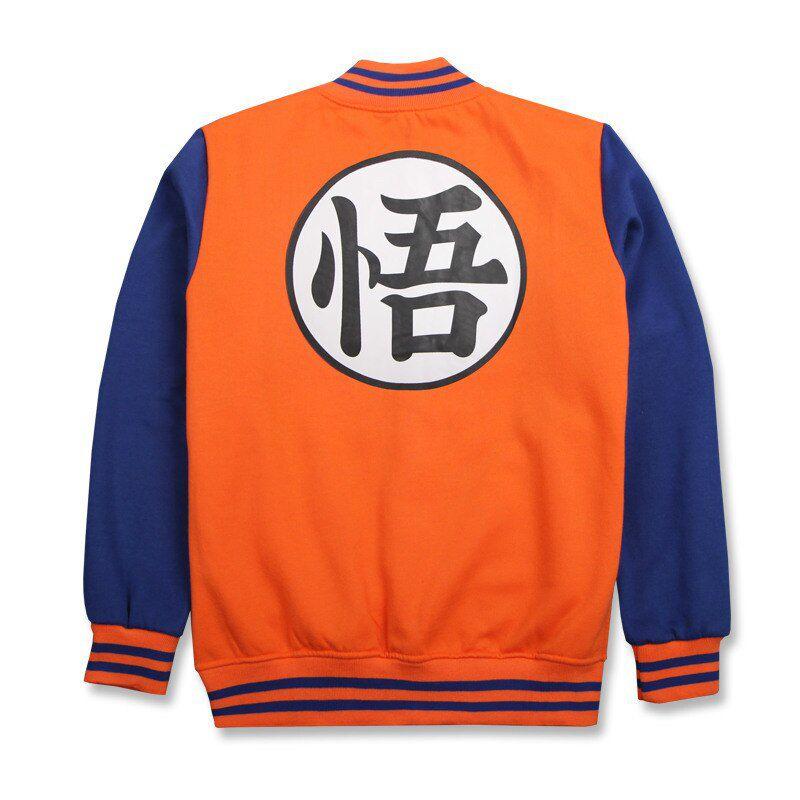 Moletom Colegial Goku: Dragon Ball Z (Laranja e Azul)