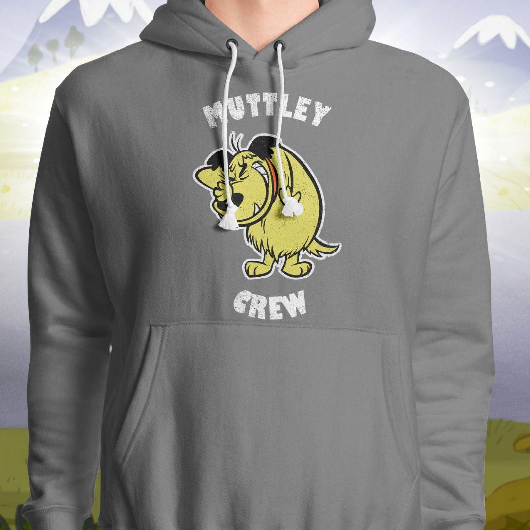 Moletom Com Capuz Corrida Maluca: Muttley Crew (Cinza)