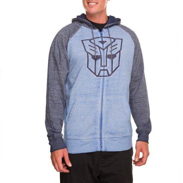 Moletom Símbolo Autobots: Transformers Azul e Cinza