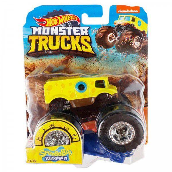 Monster Trucks Hot Wheels: Bob Esponja (1/64) - Mattel