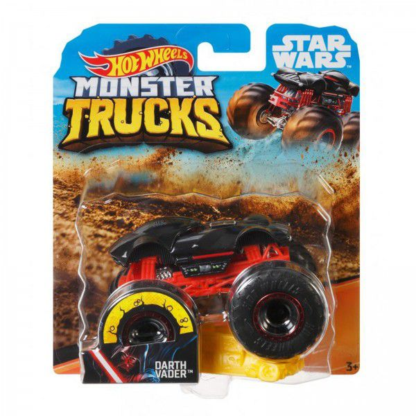 Monster Trucks Hot Wheels: Darth Vader (1/64) - Mattel