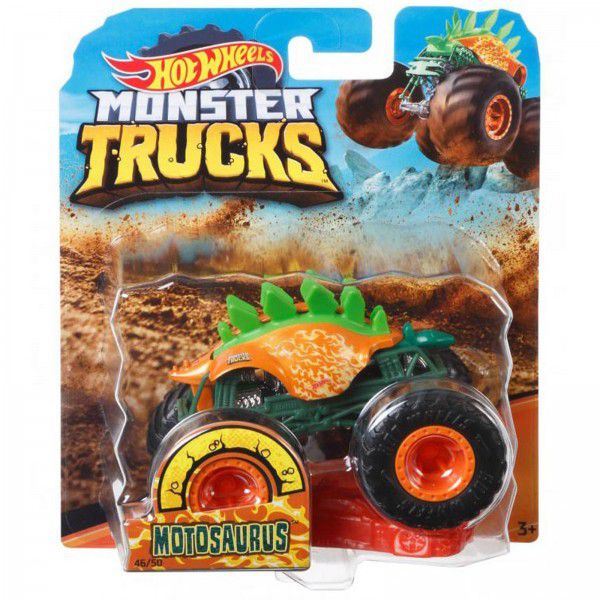 Monster Trucks Hot Wheels: Motosaurus (1/64) - Mattel