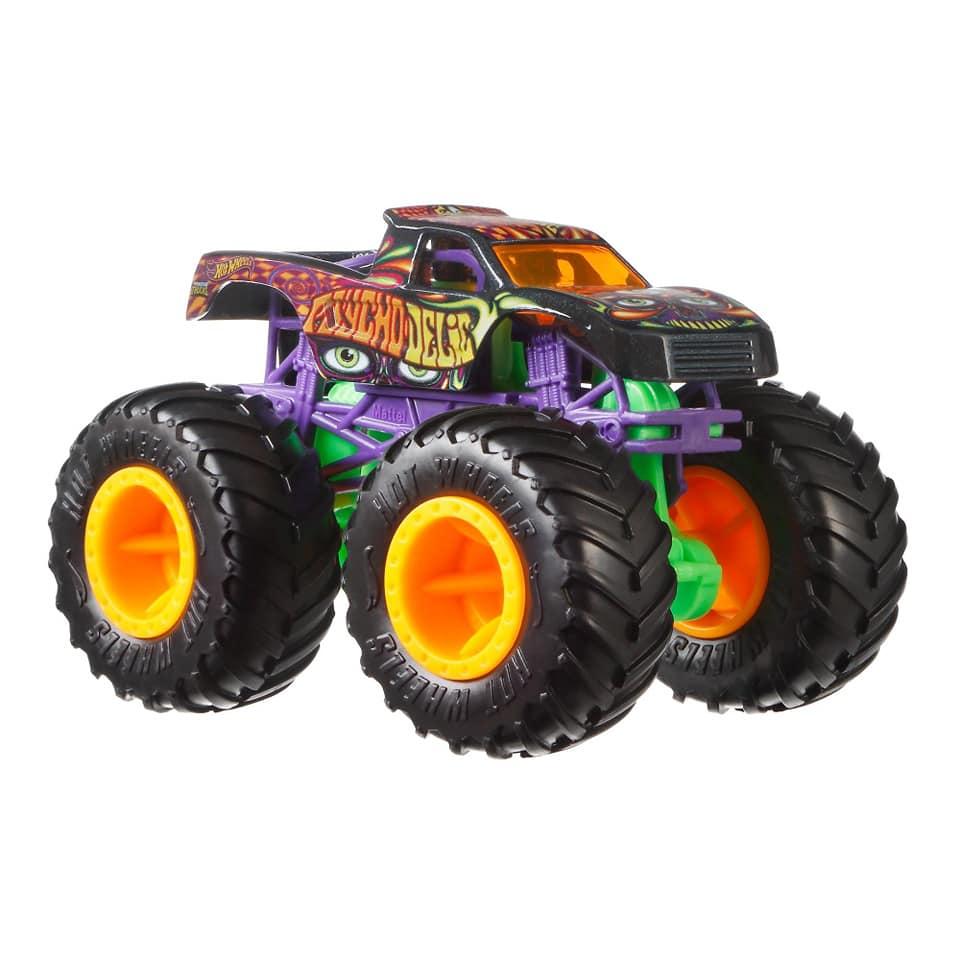 Monster Trucks Hot Wheels: Psycho Delic (1/64) - Mattel