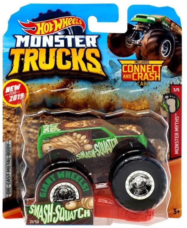 Monster Trucks Hot Wheels: Smash-Squatch (1/64) - Mattel