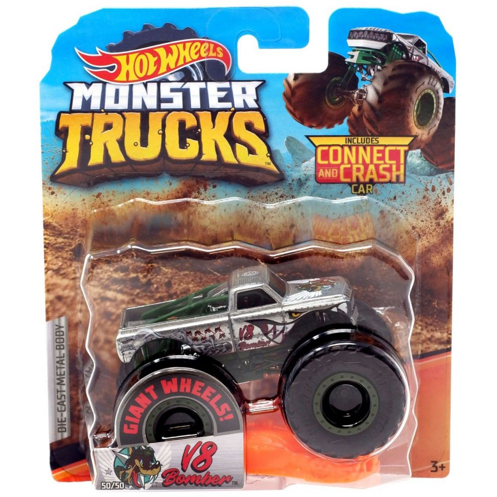 Monster Trucks Hot Wheels: V8 Bomber (1/64) - Mattel