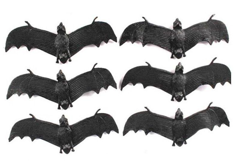 Morcegos de Borracha - Halloween (6 Pçs)
