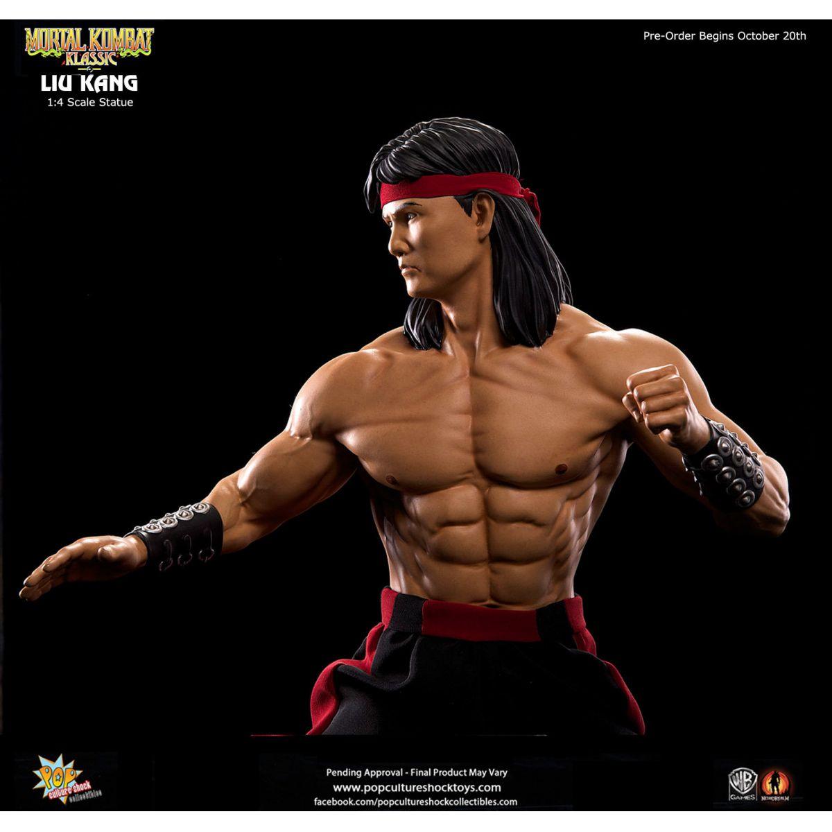 Estátua Liu Kang: Mortal Kombat (Escala 1/4) - Pop Culture Shock - Black Friday (Apenas Venda Online)