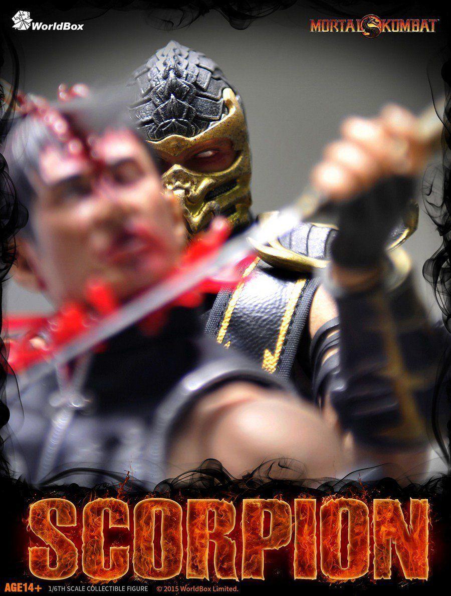 Boneco Scorpion: Mortal Kombat Escala 1/6 - WorldBox (Apenas Venda Online)