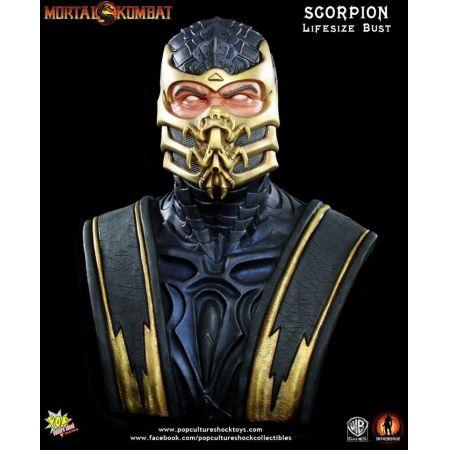Mortal Kombat Scorpion Life-Size Bust - Pop Culture Shock