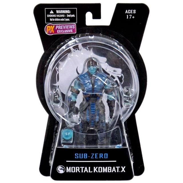 Mortal Kombat X Series 01 Sub-Zero Ice Variant PX Previews Exclusive - Mezco