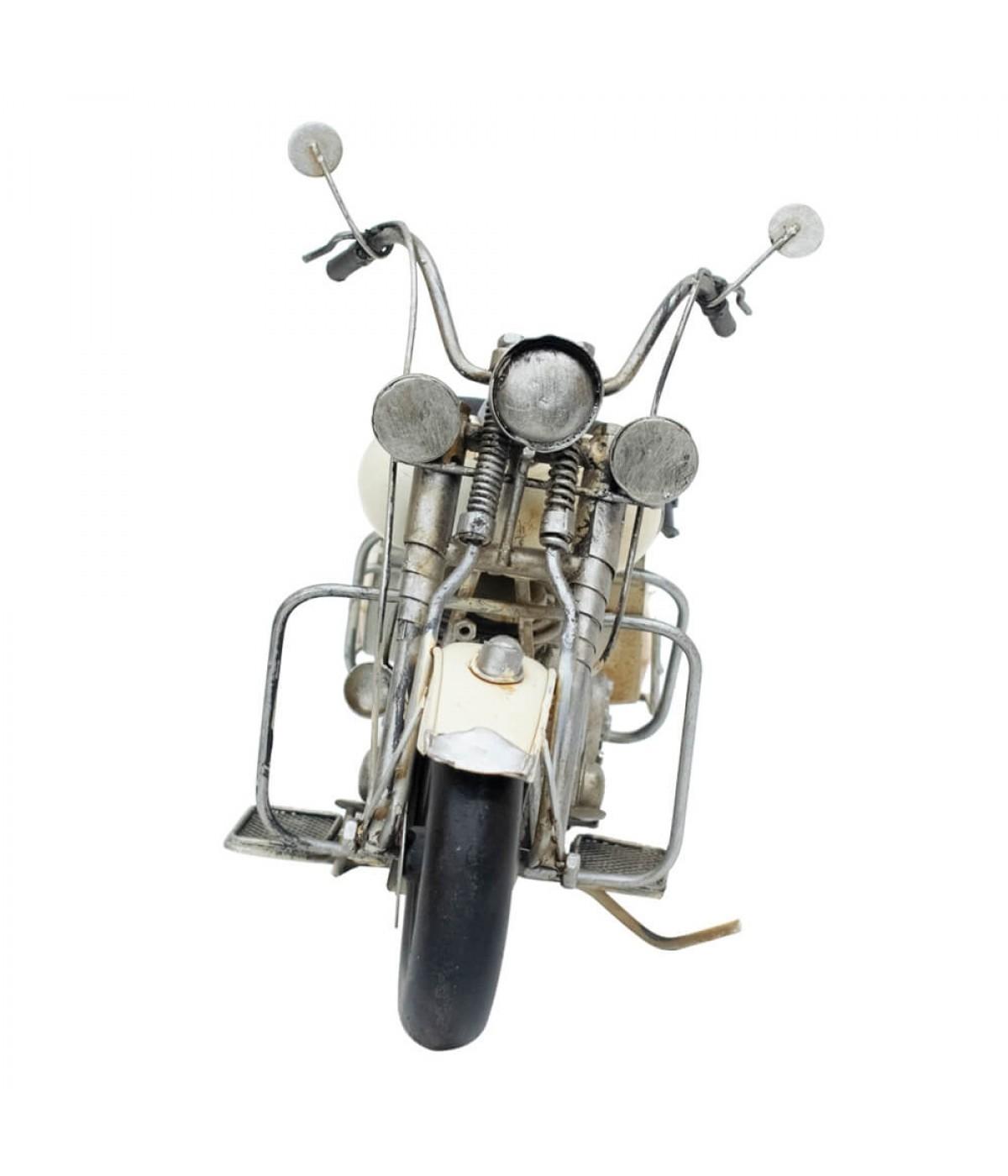 Motocicleta Vintage (Branca)