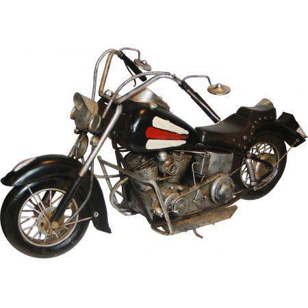 Motorcycles GD Preta c/ Listras Tanque - Oldway