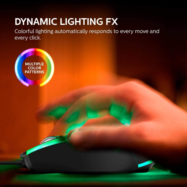 Mouse Gamer Momentum G314 1200 Dpi Iluminação Com Fio - Philips