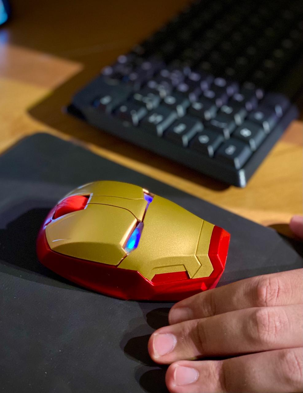 Mouse Sem Fio Gamer Homem De Ferro Iron Man Mark 8 Marvel Comics - EVALI
