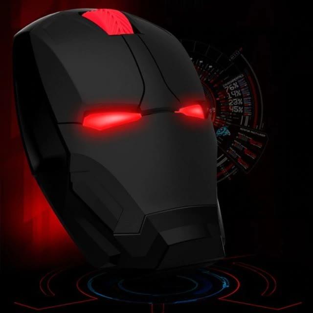 Mouse Sem Fio Gamer Iron Man Homem de Ferro Maquina de Combate War Machine Marvel Comics - EVALI