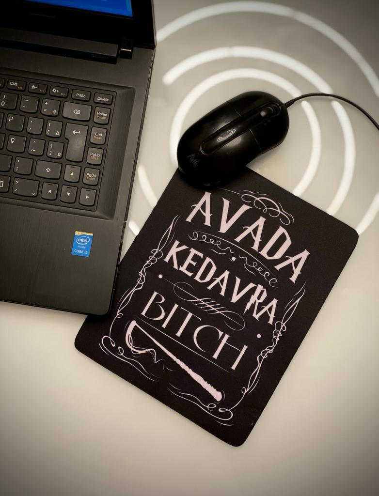 Mousepad Avada Kedavra Bitch: Harry Potter Mouse Pad - EV