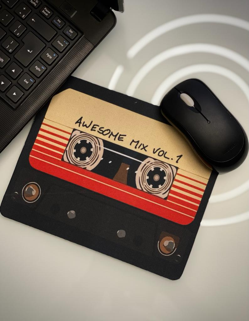 Mousepad: Awesome Mix Vol. 1 Guardiões da Galáxia Guardian Of The Galaxy: Marvel