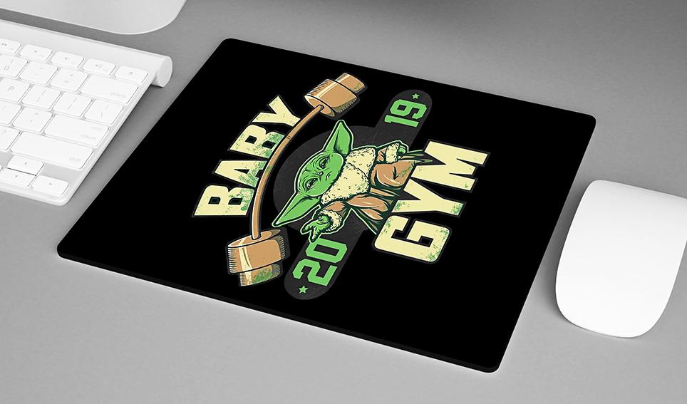 Mousepad Baby Yoda GYM Fitness: Star Wars - EV