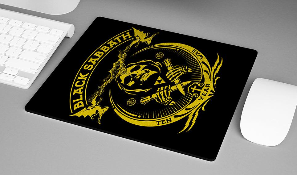 Mousepad Black Sabbath Ten Year War Heavy Metal - EV