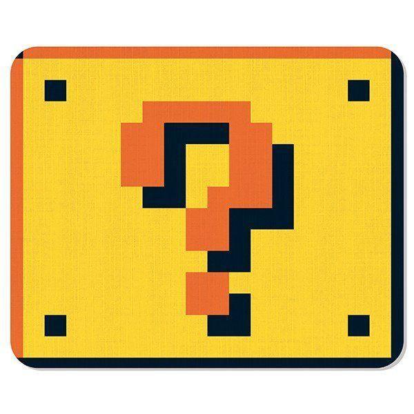 Mousepad Bloco Interrogação: Super Mario Bros - Mouse pad
